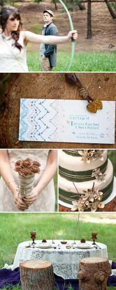 """""""The Hunger Games""""-themed wedding ideas"""