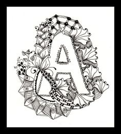 zentangle letters | ... project a zentangle alphabet i ve finished the ...