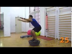 Entrenamiento 40 ejercicios - Bosu - YouTube