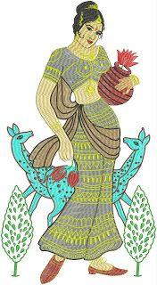 Live human figure embroidery design by Suman Pabolu - Embdesigntube