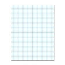 "AMPAD Corporation Products - 2-Sided Quadrille Pads, Ruled 4x4Sq/Inch, 50 Sht, 8-1/2""x11"", WE - Sold as 1 PD - Quadrille pad is printed on two sides in nonreproducible blue ink so you can align your figures, copy and create a graph-free presentation. Ideal for drafting, plotting and scale drawings. Lines won't smudge or reproduce. 20 lb. white ledger paper in pad accepts porous inks better than lower grades of paper. Pad contains 50 sheets…"