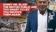 If there's one thing he's known for it's lying to the British public. Why would we listen to him now when he tells us Brexit is bad? Scum Of The Earth, Eu Referendum, Never Again, Atheist, Great Britain, Public, British, Politics, Let It Be