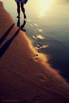 Walking along the beach....