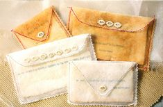 Recycled Dryer Sheet Envelopes with Notes, by Becky Shander