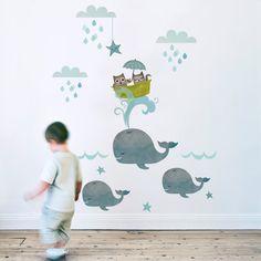 Childrens Wall Sticker  Owl & Pussycat LARGE fabric by KokoKids, £62.00