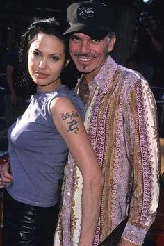"""Angelina Jolie and Billy Bob Thornton divorced in 2003, but Jolie has now written the foreword to his memoir. """"I always thought I was sort of Quasimodo or the Phantom Of The Opera,"""" Thornton told """"Nightline"""" in an interview earlier this week. """"When I was with [Jolie] I think that really reached its heights.""""  From the New York Post, 2/23/2012.  Hard not to feel that way with Jolie, unless maybe you're Brad Pitt."""