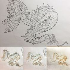 Dragon tattoo ideas - Tattoo Thinks Dragon Tattoo Foot, Dragon Tattoo Sketch, Dragon Tattoo Designs, Japanese Tattoo Art, Japanese Tattoo Designs, Japanese Art, Home Tattoo, 1 Tattoo, Line Drawing Tattoos