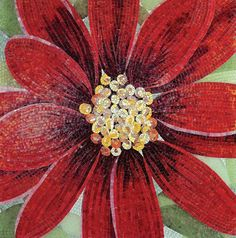 flower mosaic--I thought it was painted at first. Such shading is fantastic.