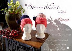 Mütze BommelOne Sorbet mit Text
