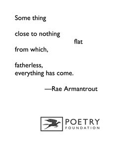 """Advent"" by Rae Armantrout"