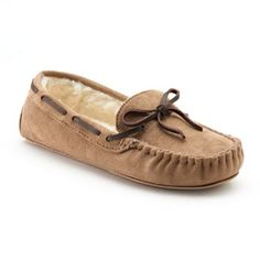 SONOMA life + style® Microsuede Moccasin Slippers in the light tan color, size large pease :)