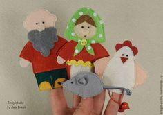 Развивающие игрушки ручной работы. Пальчиковый театр на три сказки. Юлия. Интернет-магазин Ярмарка Мастеров. Игрушки из фетра