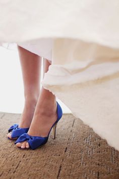 i am absolutely wearing blue shoes on my wedding day as my something blue. // this is a fantastic idea! Future Mrs, Blue Wedding Shoes, Blue Heels, Bride Shoes, Blue Bow, Something Blue, Vintage Shoes, Lauren Conrad, Beautiful Shoes