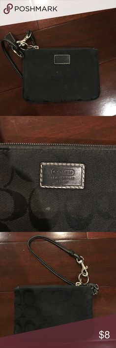 Coach wristlet Coach black wristlet small. Gently used condition Coach Bags Clutches & Wristlets