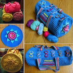 Round Crochet Bag Free Pattern