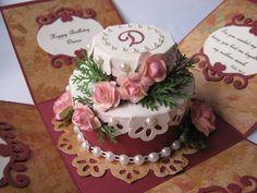Low Cal Birthday Cake Explosion Box Card