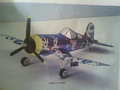 Aluminum can Navy F4u corsair airplane model by RKAluminumCrafts