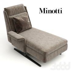 Шезлонг (кресло) Spencer Chaise Longue от Minotti