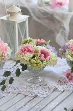 Floral table center pieces...