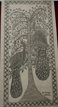 Indian Painting Styles...Madhubani/Mithila  Painting (Bihar)-peacocks.jpg