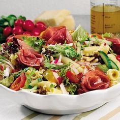 Everyday Food, Cobb Salad, Salad Recipes, Potato Salad, Health Fitness, Food And Drink, Low Carb, Pizza, Lunch