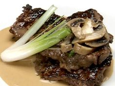 Get Sirloin Steak with Mushroom Marsala Sauce Recipe from Food Network