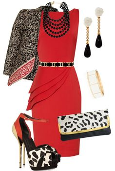 """""""What's Black, White and Red all Over?"""" by josi-d ❤ liked on Polyvore"""