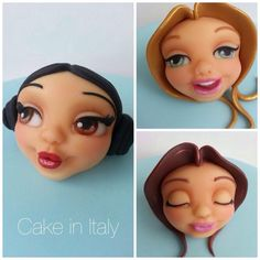 Face expressions by Cake in Italy by Marina Borghese & Liliana Blanco