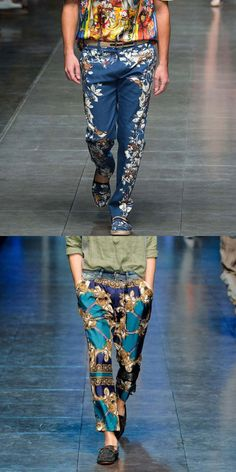 Every fashion trend you should know about in 2020. We show you how to wear the latest men's fashion trends for this season and next. #street #men #fahsion Men Trousers, Printed Trousers, Straight Leg Pants, Mens Fashion, Fashion Trends, Parachute Pants, Capri Pants, Floral Prints, Street Style
