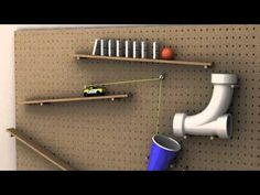 Created in MAYA Project description: build a working Rube Goldberg m. Physics Projects, School Science Projects, Stem Projects, Projects For Kids, Rube Goldberg Projects, Simple Machine Projects, Mission Possible, Rube Goldberg Machine, Stem Science