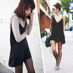 O mesmo vestido e duas diferentes formas de usa-lo.