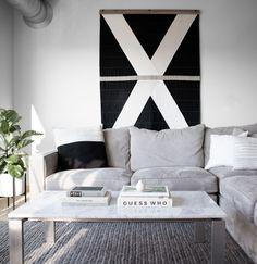 Black and white quilt by Louise Gray: Studio Tour: Design*Sponge
