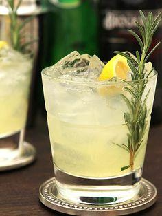 Ophelia Cocktail - Gin, Lemon and Rosemary COASTER
