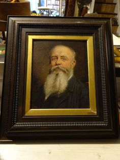 19th Century Fine Oil Painting of A Victorian Bearded Gentleman Signed Framed   eBay
