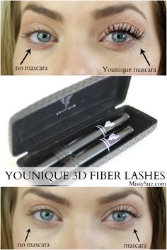 younique 3d fiber lashes missysueblog Younique 3D Lashes Mascara Review www.youniqueproducts.com/sarahim