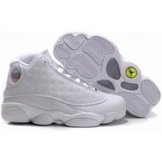 All white womens jordan 13 basketball shoes for sale