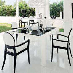 Modern Black U0026 White Dining Set By Calligaris