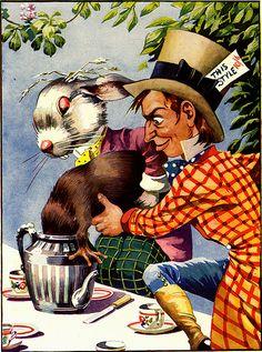 Vintage emphemera....  Alice In Wonderland ....Illustration