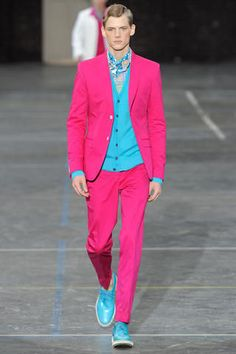 Pink Blue Suit, Blazer and pants I want It!