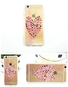 For iPhone 6 case with Love Heart, iPhone 6 TPU soft case for girls, iPhone 6 4.7'' back soft cover