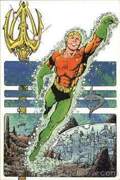 Aquaman - DC Postcard by George Perez