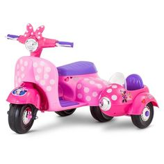 Minnie Mouse Happy Helpers Scooter with Sidecar Ride-On by Kid Trax Image 2 of 7 Toy Cars For Kids, Toys For Girls, Kids Toys, Little Girl Toys, Little Girls, Minnie Mouse Toys, Beautiful Barbie Dolls, Ride On Toys, Reborn Baby Girl