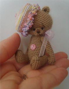 Ravelry: Miniature Crochet Thread Artist Trixee Teddy Bear Pattern pattern by Stefanie Devlin
