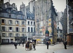 """""""Paris in Colour Unearthed by Retronaut, these color photos of Paris back 1914 are not only lovely to look at, they're incredibly narrative, like a visual prompt for the kind of stories that Hemingway would write about the city in the decade to come."""""""