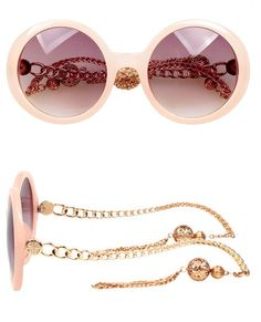 Body:Metal,Plastic Lens:Resin One Sunglasses 2016, Pink Sunglasses, Round Sunglasses, Gucci Frames, Cute Glasses, Beanies, Sunny Days, Jewelry Stores, Eyewear