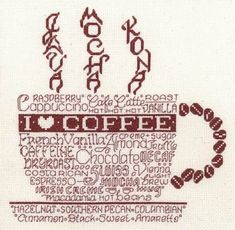 Let's Do Coffee -This is a great pattern!  Perfect for a breakfast nook,  kitchen, dining area.