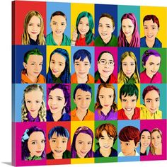Andy Warhol's Pop Art style is very popular. Our Pop Art artists can turn your photo into a unique Andy Warhol artwork. Collaborative Art Projects, Classroom Art Projects, Art Classroom, School Magazine Ideas, Foto Pop Art, Orla Infantil, Andy Warhol Artwork, School Auction Projects, Pop Art Artists
