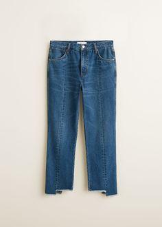21d6d7c5409b8 Frayed straight jeans (under $60) Dżinsy Rurki, Denim Fashion, Ubrania  Dżinsowe,