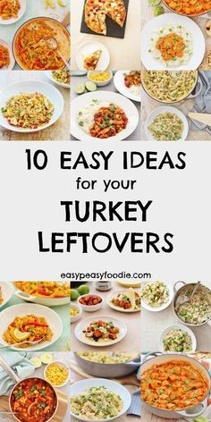 Need a few ideas for how to make the most of your leftover roast turkey this year? Want something a bit more exciting than turkey sandwiches AGAIN? Check out these 10 Easy Ideas for your Turkey Leftovers. #turkey #leftoverturkey #turkeyleftovers #leftovers #leftoverroastturkey #christmas #boxingday #christmasleftovers #boxingdayleftovers #easychristmas #easypeasychristmas #easypeasyfoodie #cookblogshare Turkey Pie, Turkey Curry, Turkey Pasta, Turkey Meals, Tom Turkey, Easy Turkey Recipes, Leftover Chicken Recipes, Easy Dinner Recipes, Easy Meals