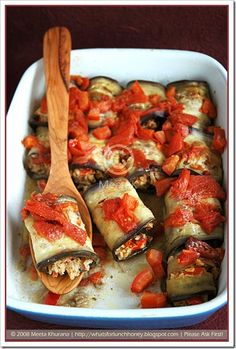 Aubergine Dolma with a Piquant Rice Filling and Tzatziki - ALANGOO Food Inspiration